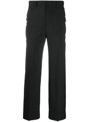 Czarne spodnie w paski wełniane Ader Error