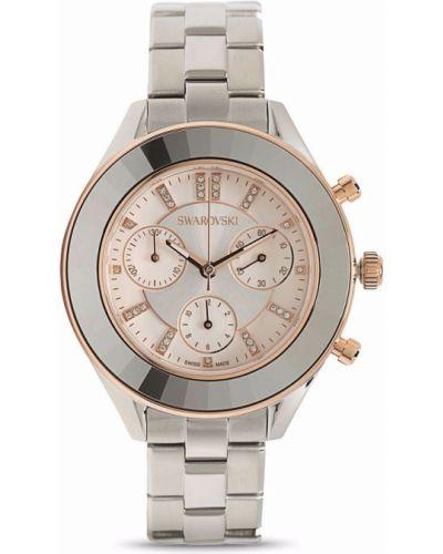 Zegarek sportowy - biały Swarovski