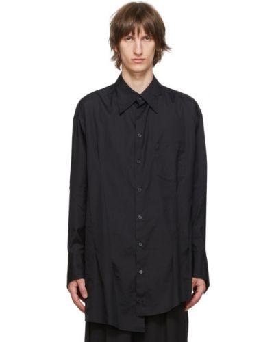 Czarna koszula bawełniana z długimi rękawami Sulvam