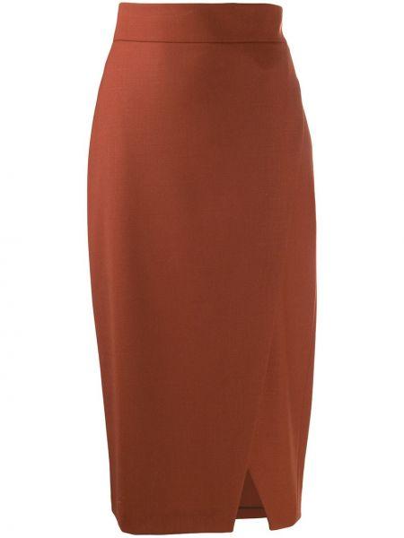 Юбка карандаш пачка коричневый Antonelli