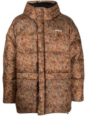 Brązowy płaszcz z kapturem Doublet