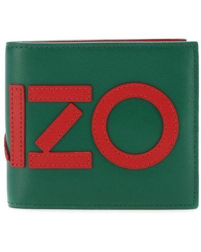 Зеленый кожаный кошелек Kenzo