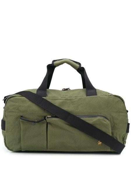 Хлопковая зеленая сумка на плечо с карманами милитари G-star Raw