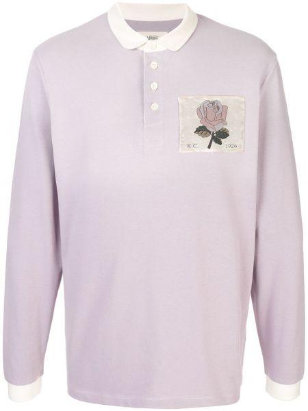 Фиолетовая рубашка с нашивками на пуговицах Kent & Curwen