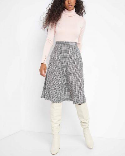 Różowy spódnica midi z wiskozy Orsay