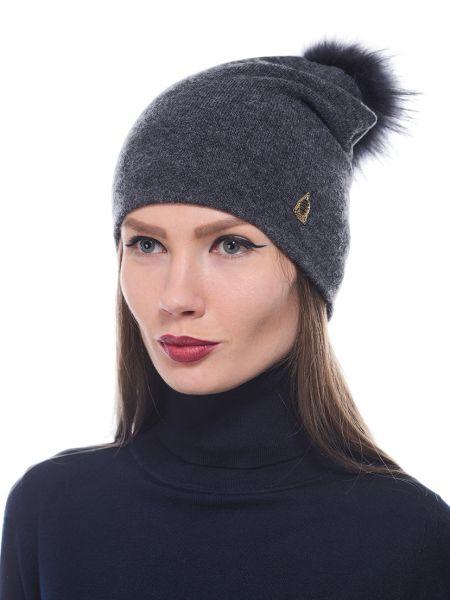 Кашемировая шапка - серая Marina Yachting