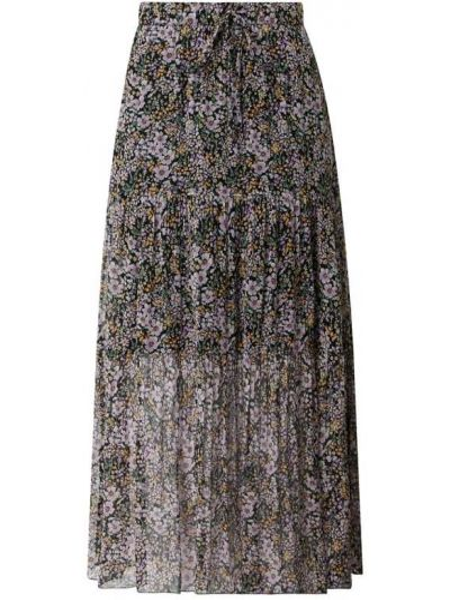 Fioletowa spódnica maxi rozkloszowana z wiskozy Set