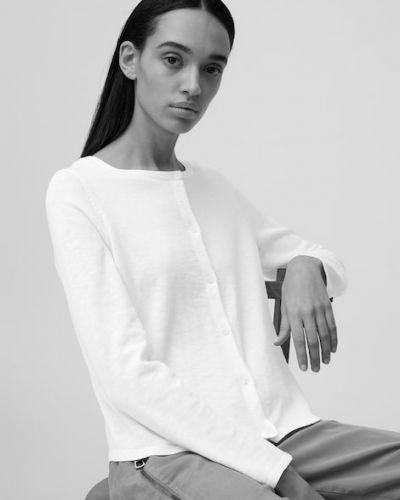 Biały sweter bawełniany Marc O Polo