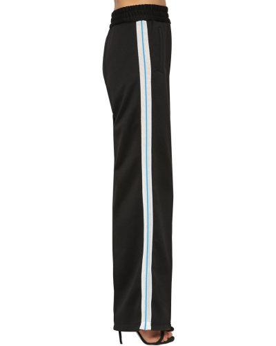 Расклешенные черные брюки сетчатые Off-white