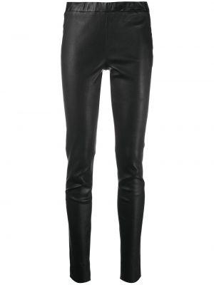 Черные с завышенной талией кожаные брюки Arma