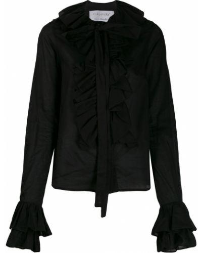 Черная рубашка на пуговицах с оборками Milla Milla