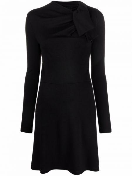 Черное шерстяное платье макси Giambattista Valli