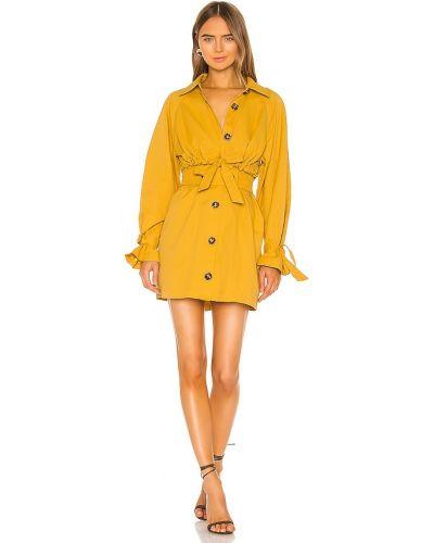 Желтое платье свободного кроя C/meo