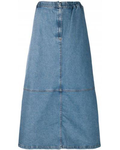 Джинсовая юбка - синяя Zucca