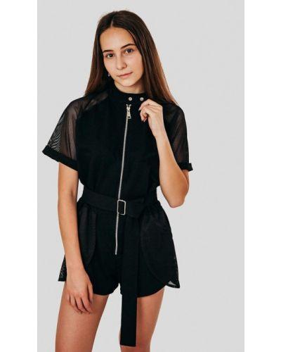 Черный комбинезон с шортами сноубордический Street Style