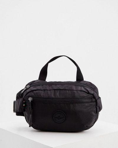 Текстильная поясная сумка - черная Aeronautica Militare