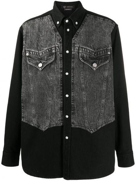 Koszula z długim rękawem dżinsowa prosto Versace