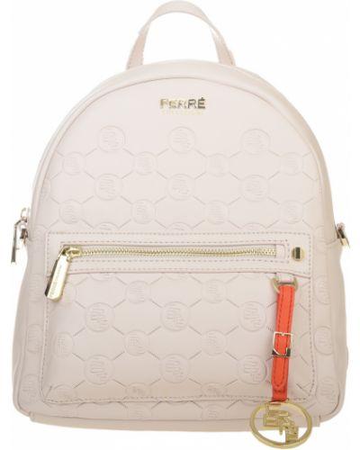 Кожаный рюкзак - бежевый Ferre Collezioni