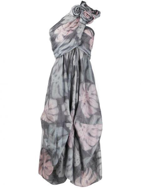 Платье на одно плечо плиссированное Giorgio Armani