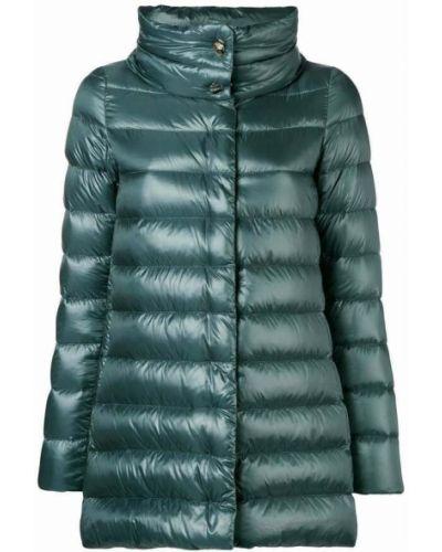 Zielony płaszcz Herno