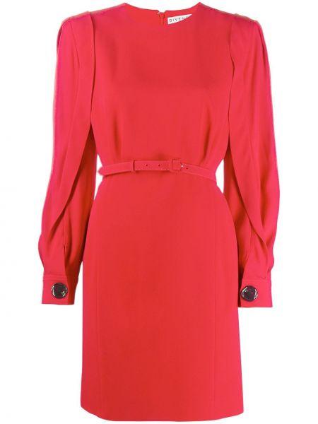 Jedwab sukienka mini z mankietami zapinane na guziki okrągły dekolt Givenchy