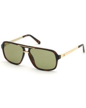 Czarne okulary srebrne Guess