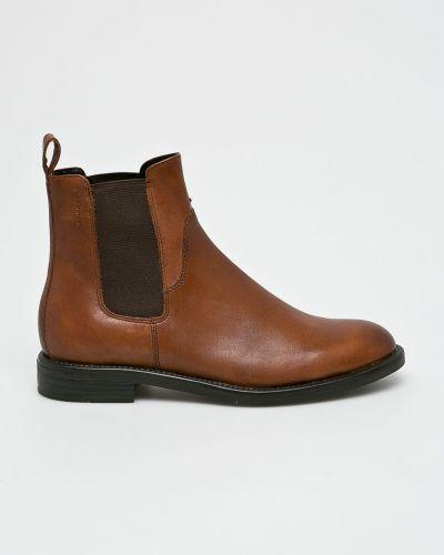 Кожаные сапоги на каблуке на каблуке Vagabond