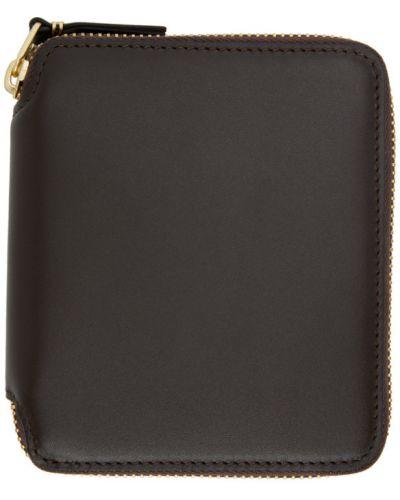 Skórzany klasyczny portfel skórzany złoto z gniazdem Comme Des Garcons Wallets