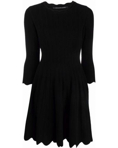 Платье мини с вырезом - черное Antonino Valenti