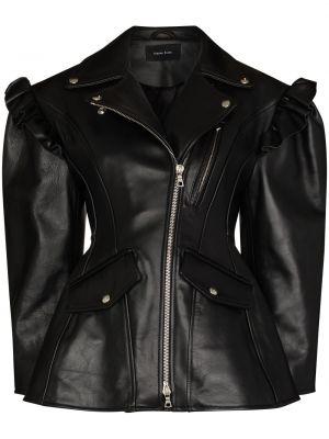 Черная куртка с оборками Simone Rocha