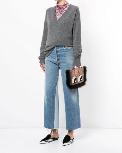 Кожаная сумка розовый конверт Les Petits Joueurs