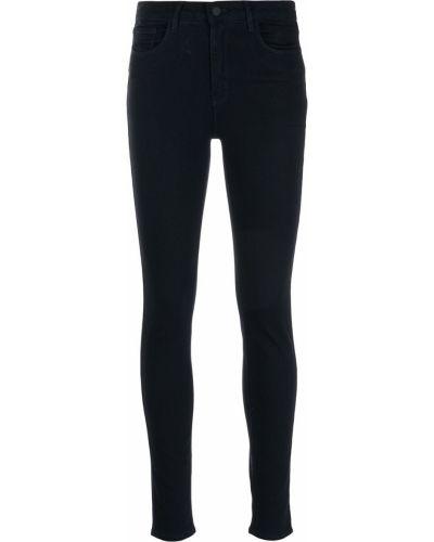 Синие с завышенной талией джинсы-скинни на молнии L'agence