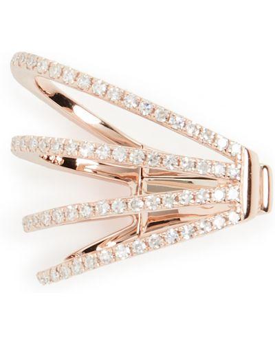 С ромбами пирсинг золотой с бриллиантом Ef Collection