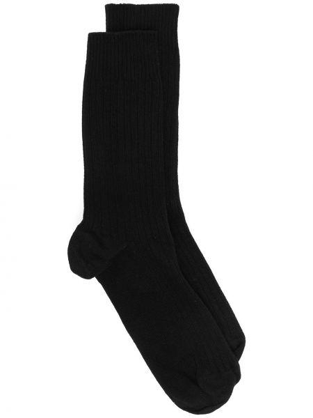 Prążkowane czarne skarpety bawełniane Baserange
