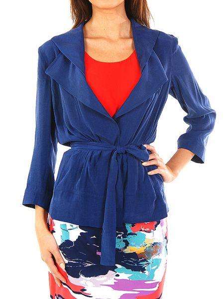 Синий пиджак из вискозы Perspective