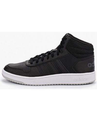 Высокие кеды черные кожаный Adidas