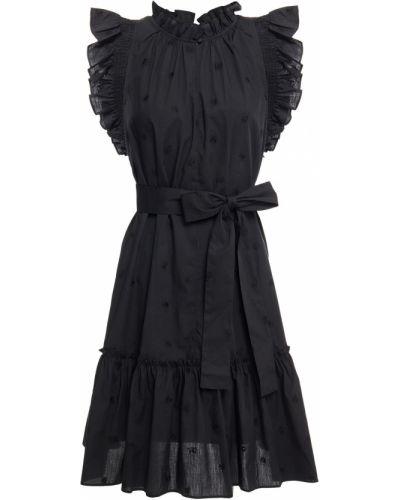 Хлопковое платье мини - черное Kate Spade New York