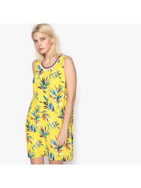 Желтое платье мини Pepe Jeans