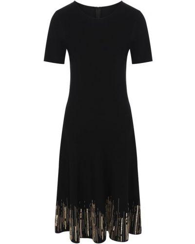 Платье в рубчик из вискозы Oscar De La Renta