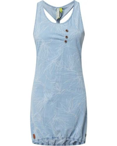 Sukienka rozkloszowana z wiązaniami - niebieska Alife And Kickin