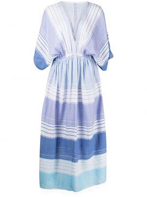 Niebieska sukienka z printem Lemlem