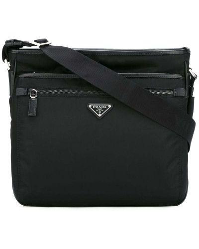 Кожаная сумка мессенджер Prada