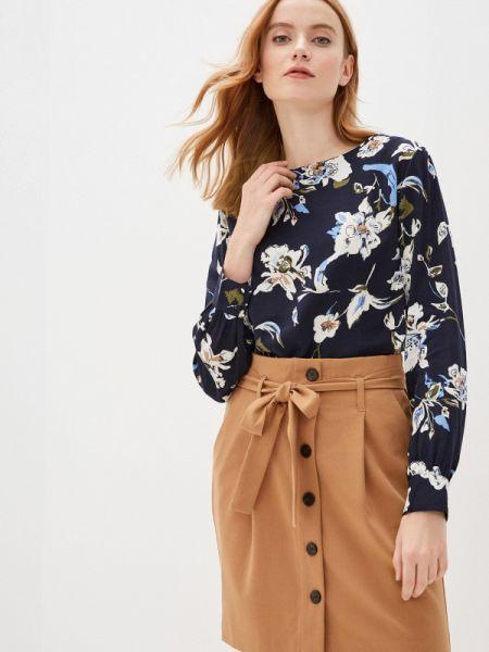Блузка с длинным рукавом синяя весенний B.young