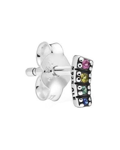 Розовые серебряные серьги Pandora