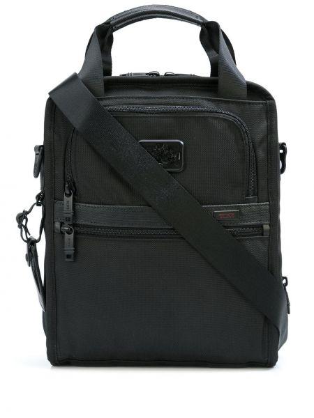 Czarna torba podróżna skórzana Tumi