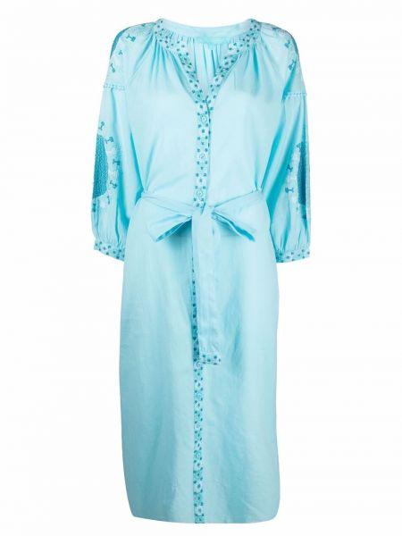 Синее хлопковое платье Melissa Odabash