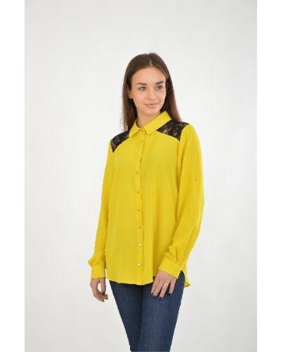Блузка из вискозы желтый Moda Di Chiara