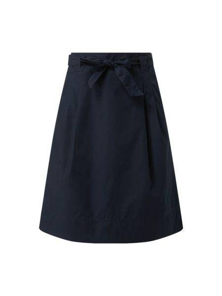Niebieska spódnica rozkloszowana z paskiem Christian Berg Women