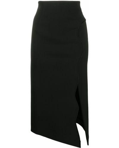 Асимметричная с завышенной талией юбка миди с разрезом на молнии Ssheena