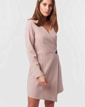 Платье розовое с запахом Fly